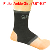 Black Gray Open Heel Ankle Support Sock Elastic Knitting Sports Protector