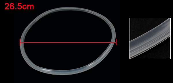 Home Clear Pressure Cooker 24cm Internal Diameter Silicone Gasket Sealing Ring