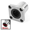 LMK16UU 16mm x 28mm x 38mm Square Flang Linear Motion Ball Bearing