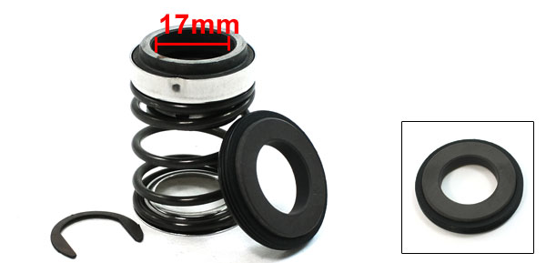 17mm Internal Dia 48mm OD Rubber Bellows Coil Oil Mechanical Seal