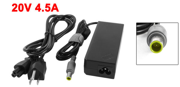 US Plug AC 100-240V 20V 4.5A PC Laptop Notebook AC Adapter for IBM Thinkpad T400 R60e X60 X60s Lenovo 3000