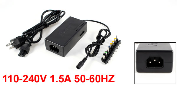96W Laptop Notebook Universal Plug Jack Detachable Tips AC DC Adapter Charger