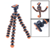 "Orange 6.5"" Portable Flexible Joints Tripod Stand Holder for Digital Camera"