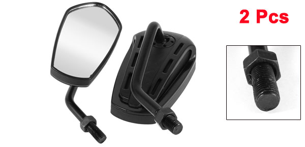 11.5cm x 5.6cm Motorcycle Rear View Mirror Black 2 Pcs