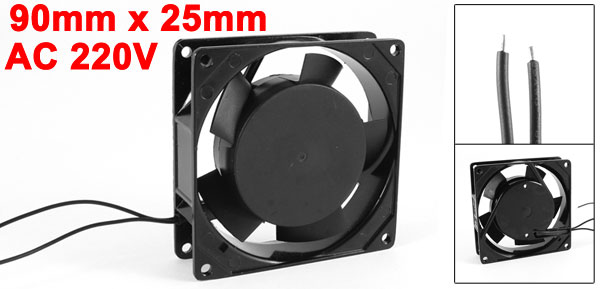 AC 220V Computer CPU Heatsink Cooler Sleeve Bearing Fan 90mm x 25mm