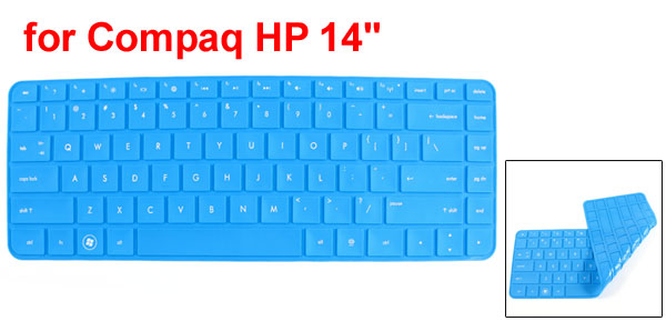 312mm x 112mm Blue Silicone Guard Film PC Keypad Keyboard Skin for HP Compaq 14