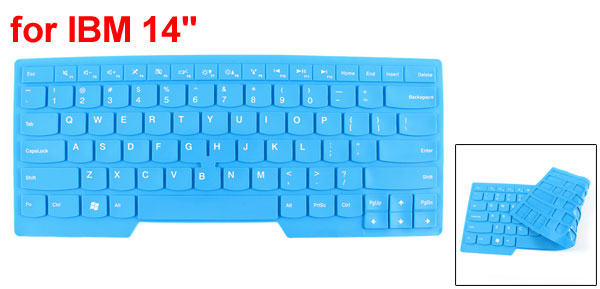 Blue Flexible Silicone Notebook Keyboard Skin Cover Guard Film for IBM 14