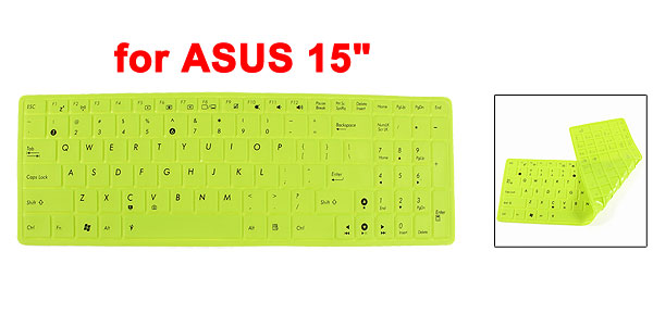 Green Soft Silicone Notebook Keyboard Skin Cover Protector Film for ASUS 15