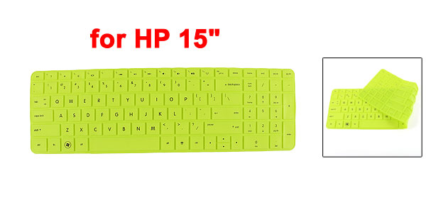 Silicone Dustproof Film Protective PC Keypad Keyboard Skin Green for HP 15