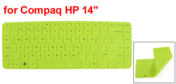 312mm x 112mm Green Silicone Guard Film PC Keypad Keyboard Skin for HP Compaq 14