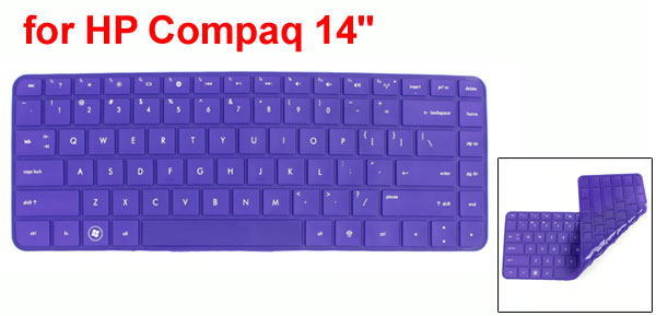 312mm x 112mm Purple Soft Silicone Laptop Keyboard Skin Film for HP Compaq 14