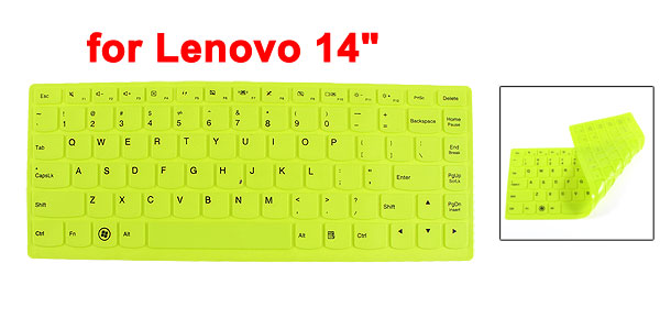 290mm x 112mm Green Silicone Dustproof Film Keypad Keyboard Skin for Lenovo 14