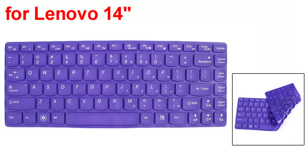Purple Silicone Dustproof Film Protective PC Keypad Keyboard Skin for Lenovo 14