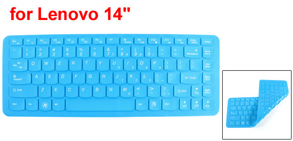 Blue Silicone Dustproof Film PC Keypad Keyboard Skin Cover for Lenovo 14