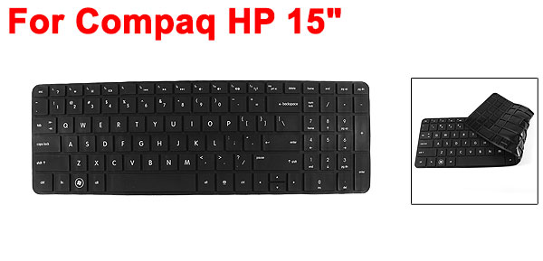 Black Silicone Dustproof Guard Film PC Keypad Keyboard Skin for Compaq HP 15