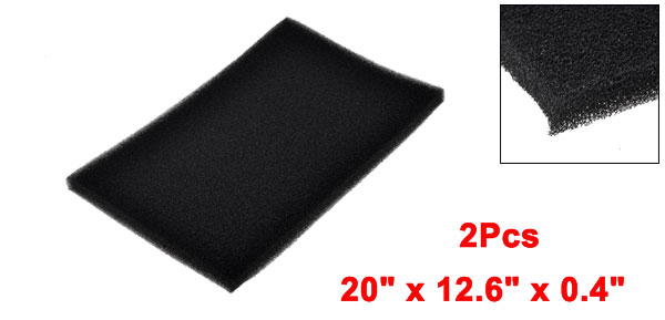 Fresh Water Aquarium Black Rectangle Sponge Biochemical Filter 2 Pcs