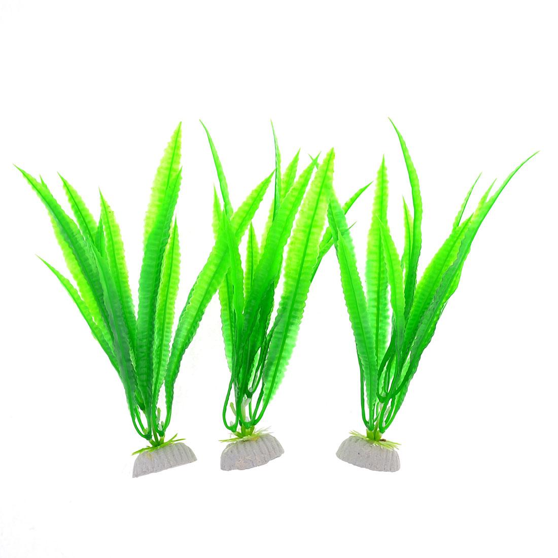 3-Pcs-9-3-Height-Aquarium-Fish-Tank-Green-Plastic-Water-Plants