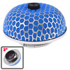 "Car Universal 3\"" 76mm Diameter Air Intake Filter Mushroom Shape Blue Silver Tone"