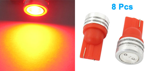 T10 2821 12V 1W Red LED Bulb Car Auto Dashboard Light Lamp 8 Pcs
