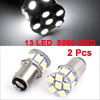 2 Pcs 1157 P21/5W White 5050 SMD 13 LED Backup Light Bulbs for Car Auto
