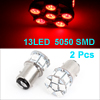 Pair 1157 BA15D 13 Red Flash 5050 SMD LED Auto Car Brake Light