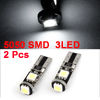 2 Pcs T10 W5W 194 168 Car White Canbus No Error 5050 SMD 3-LED Light Bulb Lamp
