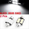 2 Pcs 31mm Canbus Error free 4 5050 SMD 5050 LED White Festoon Dome Light Lamp 12V