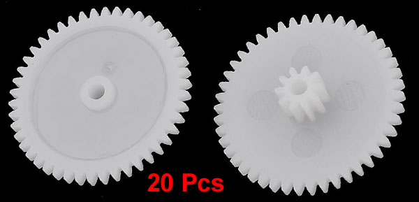 20 Pcs White Plastic 24 x 5mm Machanical Models Gears