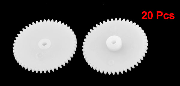 20 Pcs White Plastic Machanical Model Electric Models 25mm Dia Gear