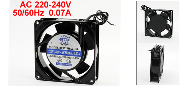AC 220-240V 0.07A 5 Blade Cooler Axial Flow Cooling Fan 90mmx90mmx25mm
