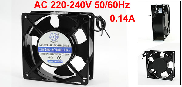 AC 220-240V 0.14A 2-Wire Metal Frame Axial Cooling Fan 120mmx120mmx40mm