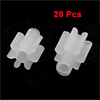 20 Pcs White Plastic 2.5mm Diameter 2mm Height Gear for Mini Motors