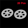 20 Pcs White Plastic Hollow Out 21 x 1mm Electric Model Wheel Gears