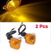 F FIERCE CYCLE 2 x Motorcycle Square Shaped Yellow LED Turn Signa...