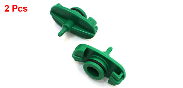 2pcs Green Plastic 22mm Barrel 30ML Adhesive Dispenser Syringe Adapter