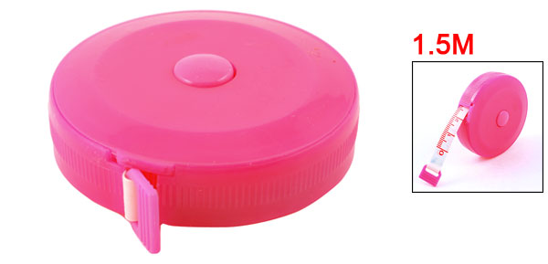 Tailor Pink Casing 1.5 Meter Sewing Retractable Ruler Tape Measure Tool