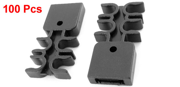 100 Pcs Black Plastic Rivet Truck Door Bumper Fastener Replacement