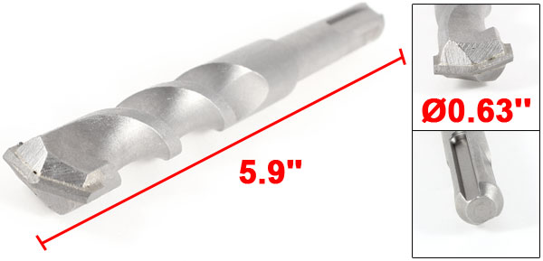 SDS Plus Shank 16mm Diameter 150mm Length Masonry Drill Bit