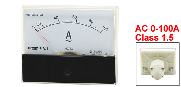 AC 0-100A Analog Amplifier Current Measurement Panel Meter Amperemeter 44L1