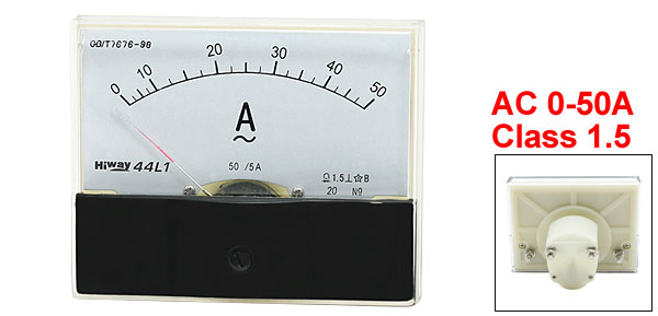 Class 1.5 Accuracy AC 0-50A Analog Panel Meter Ampere Gauge 44L1