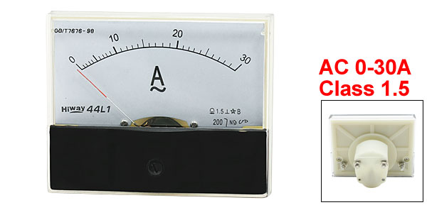 AC 0-30A Analog AMP Current Measurement Panel Meter Amperemeter 44L1