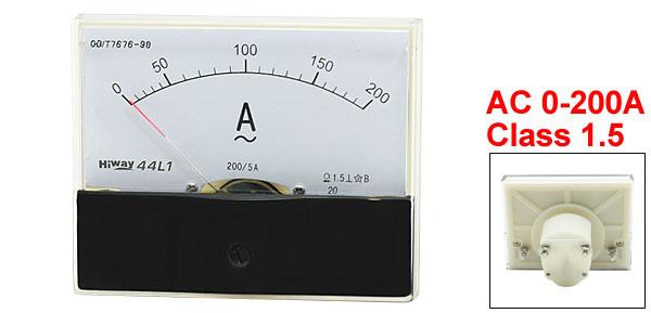 Plastic Casing AC 0-200A Analog Panel Meter Ampere Ammeter Gauge 44L1