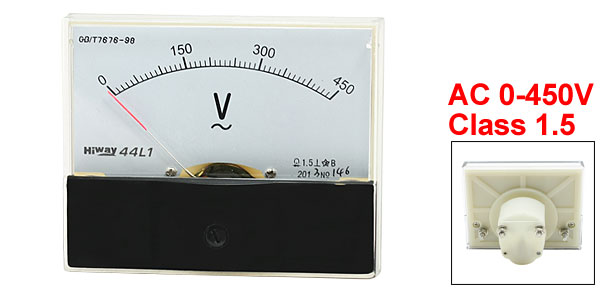 Class 1.5 AC 0-450V Analog Voltage Voltmeter Panel Meter 44L1