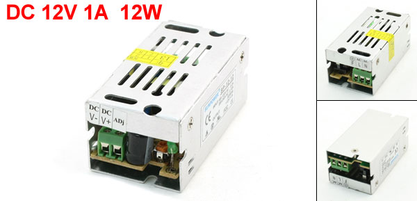 Switching LED Power Supply Adapter Transformer 200-240VAC 0.13A DC12V 1A 12W