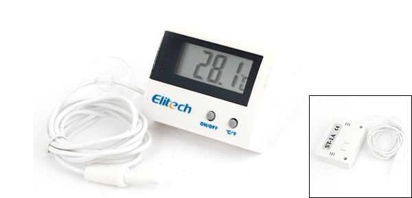 ST-1A Off White Black Digital Electronic Temperature Meter Thermo-Hygrometer