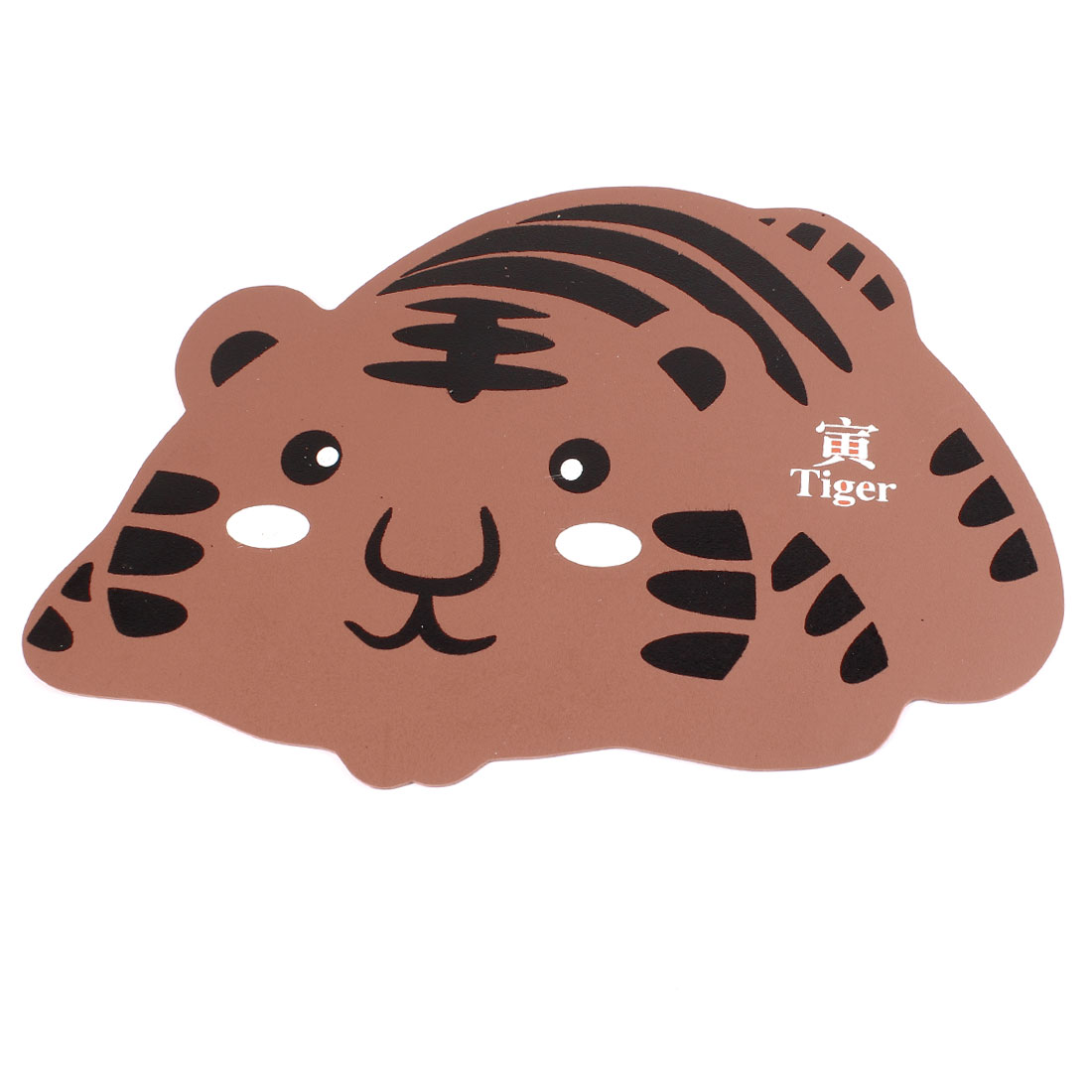 Desktop-Chinese-Zodiac-Cartoon-Tiger-Rubber-Mouse-Pad-Mat-Brown-Black