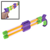 Purple Green Yellow Plastic Dual Tank Water Spray Gun Toy for Children Kids