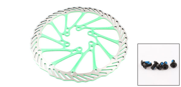 Bike Bicycle Replacement 160mm Dia Front Rear Brake Disc Rotor Green