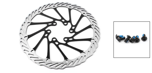 Bike Bicycle Replacement Black Metal 160mm Diameter Front Rear Brake Disc Rotor
