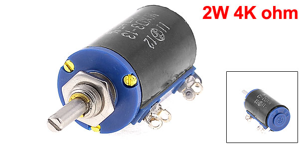 WXD3-13 2W 4K ohm Multi Turn Wirewound Potentiometers Pot